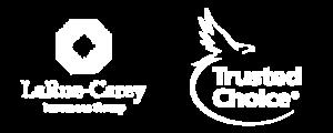 LaRue-Carey Insurance Group & Trusted Choice Logo Set White